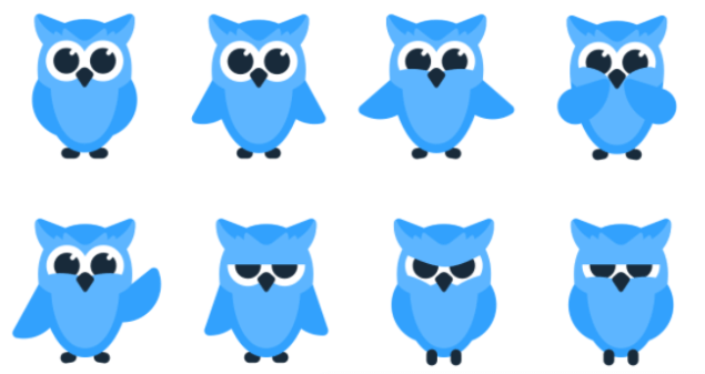 Meet Owlymate owl in all her shapes and moods