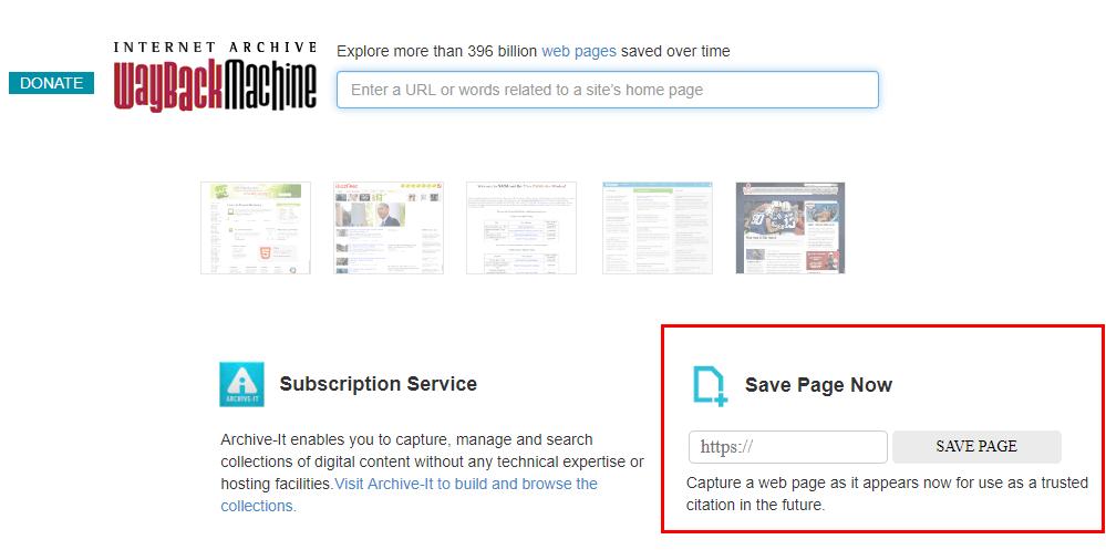 Как добавить сайт в сервис Webarchive
