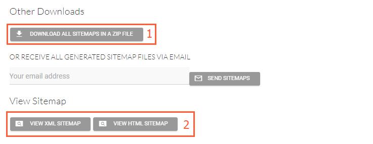 Сохранить карту сайта в Sitemap Generator