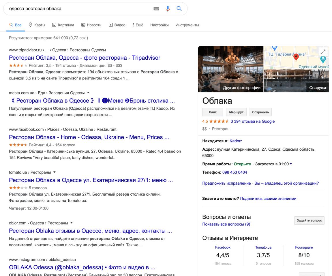 Как выглядит карточка в поисковой выдаче