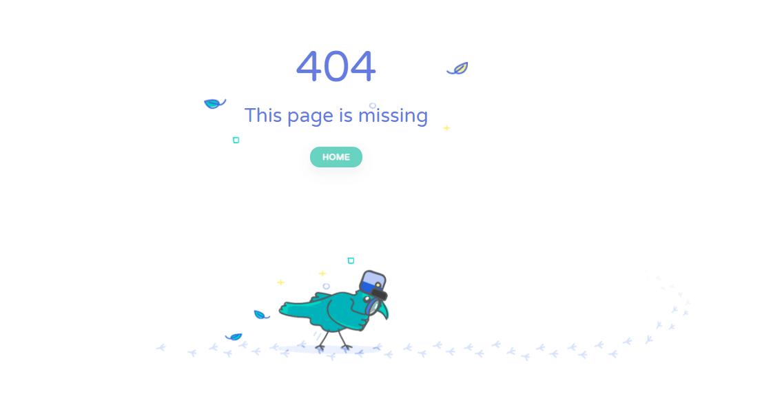 Пример оформления 404 страницы на сайте Panoraven