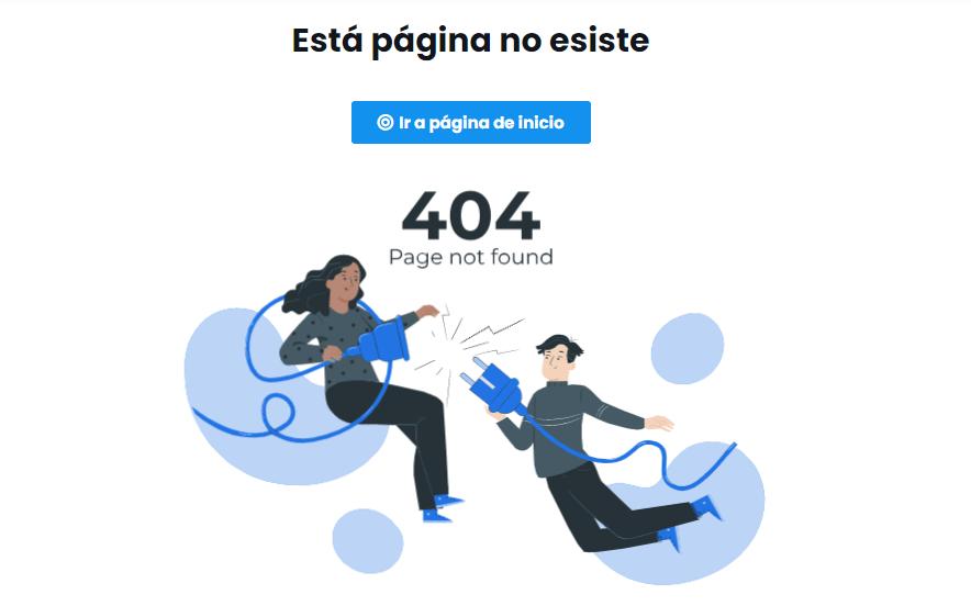 Пример оформления 404 страницы на сайте Mobkii