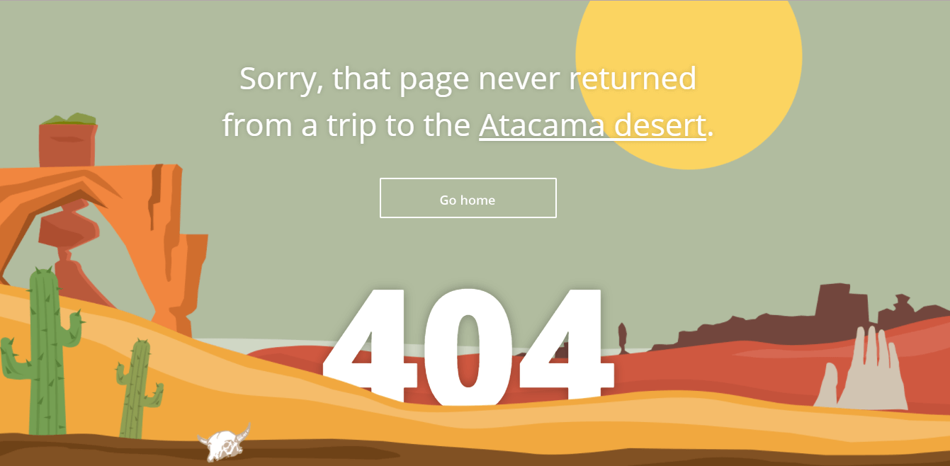 Пример оформления 404 страницы на сайте Sygic