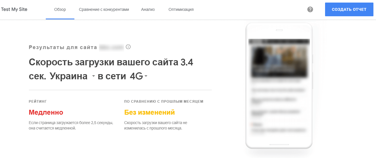 Как проверить скорость загрузки сайта для мобильных устройств в сервисе ThinkWithGoogle